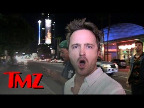 TMZ Reporter won't leave Aaron Paul alone