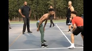 21 Savage Proves He's A Better Basketball Player Than Lil Uzi Vert #AllUrbanCentral