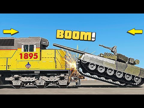 What vehicle can stop a train locomotive at speed? - BeamNG Drive