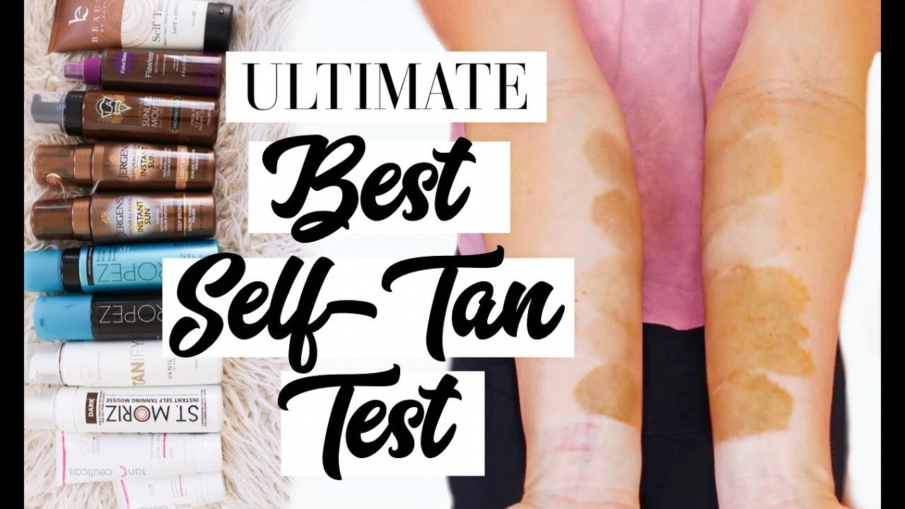 Best Self Tanner For Pale Skin Ultimate Self Tan Test Youtube