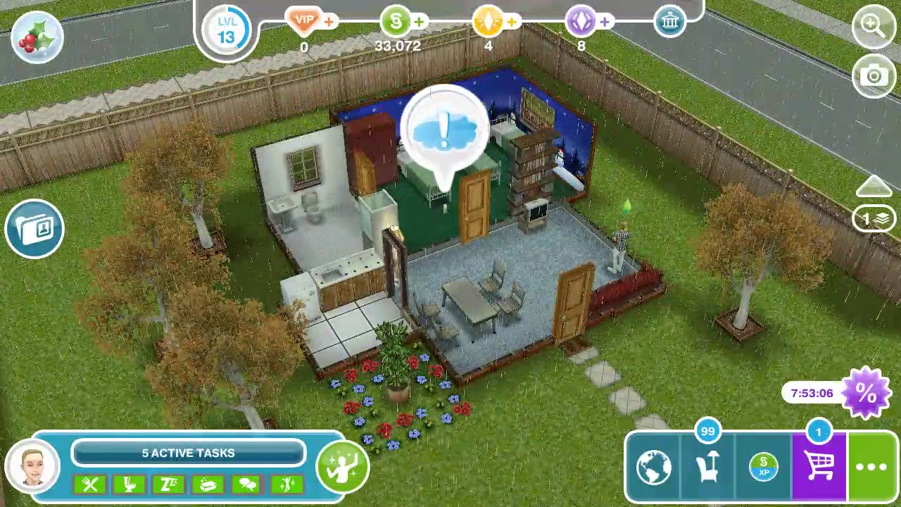 the sims freeplay snow problem impulse buy youtube