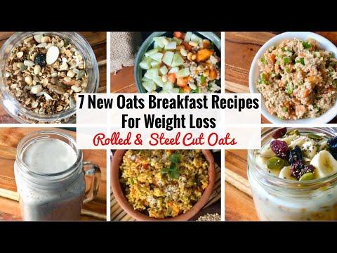 7 Healthy Oats Breakfast Recipe | 1 Week Easy & Quick Steel Cut & Rolled Oats Recipes | Weight Loss