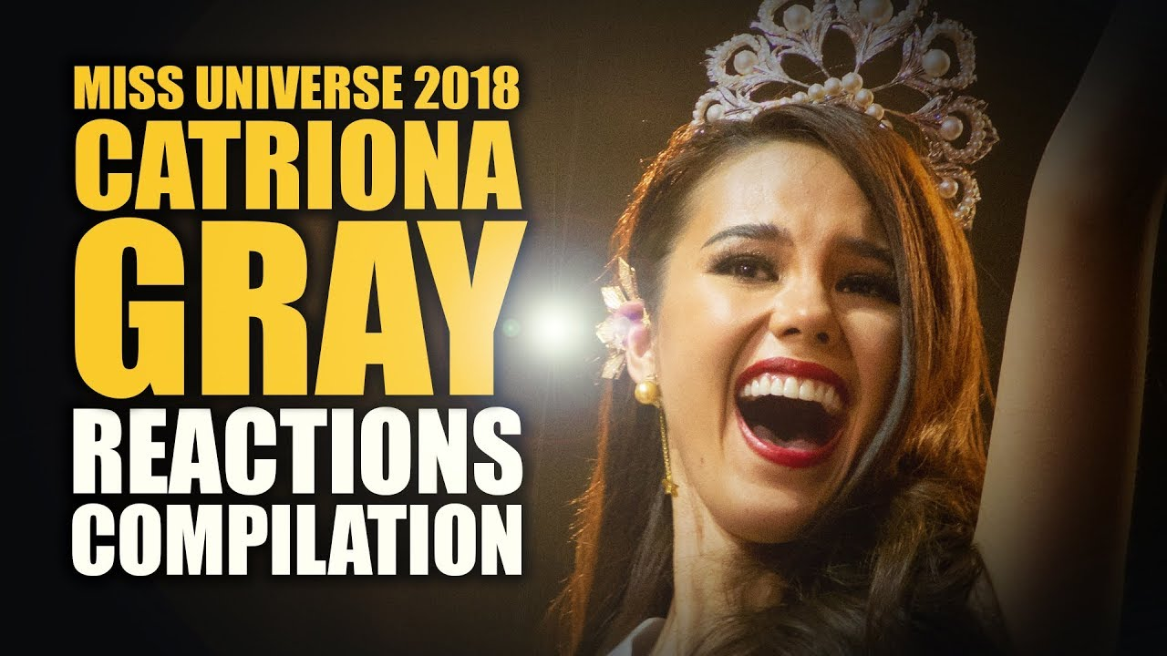 Miss Universe 2018 Catriona Gray Reactions Compilation