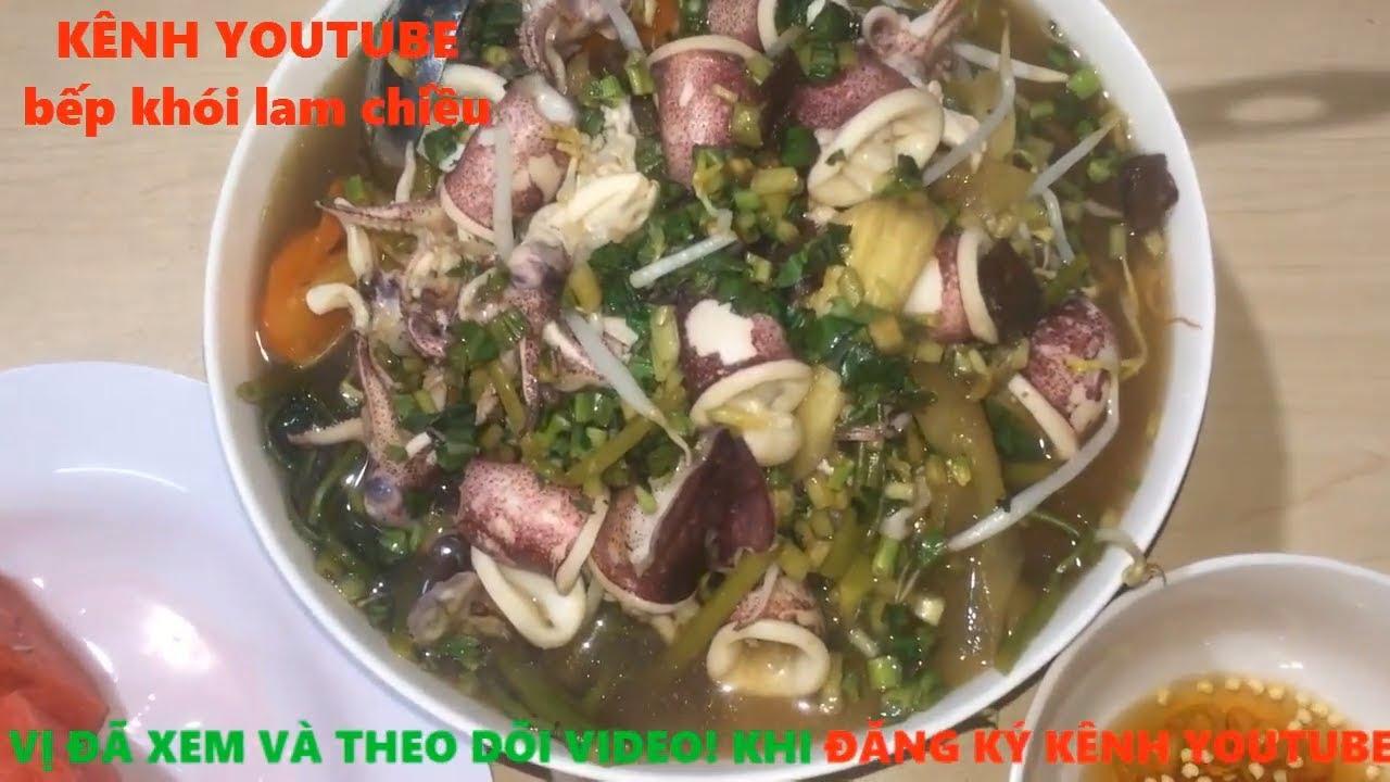 Nấu ăn # Cách nấu món canh chua mực ngọt mát #mónngonmỗingày#