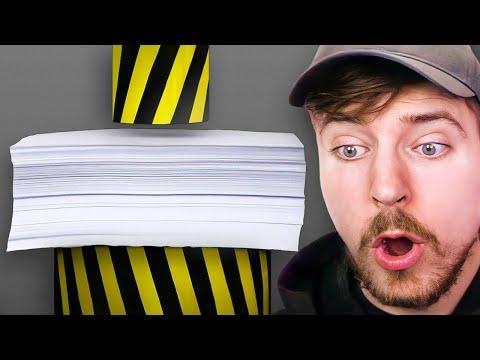 Hydraulic Press vs 1000 Sheets Of Paper