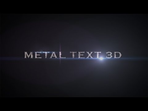 Tutorial After Effects in romana Metal 3D text efect