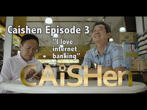 "Caishen ""The God of Fortune"" web series Episode (3/20) "" I love internet banking"""