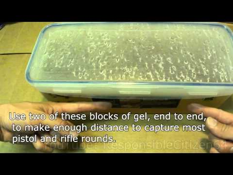 Making and forming ballistics gel for bullet tests, the right tools to make it easy