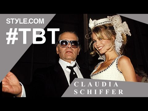Claudia Schiffer: Chanel Muse, Guess Girl, and Iconic Blonde  TBT with Tim Blanks  Style.com