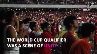 "Hong Kong supporters sing unofficial ""National Anthem"" against Iran"