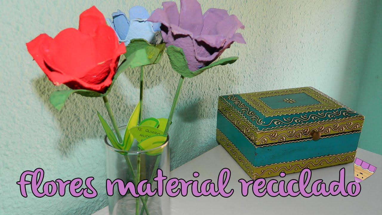 Flores recicladas regalo d a de la madre 2016 - Regalos para mama manualidades ...