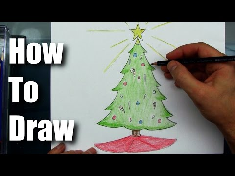 Drawing How To Draw A Simple Christmas Tree Cartoon Kids Can Draw