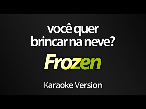 DO YOU WANT TO BUILD A SNOWMAN (Karaoke Version) - Frozen (Acoustic Version) (with lyrics on screen)