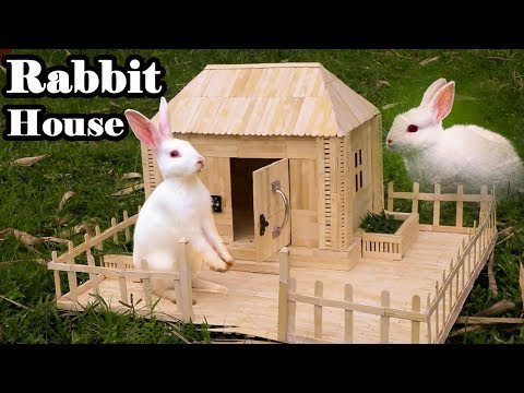 How to Make Popsicle Stick House for Rabbit Using 3000 Sticks !!!