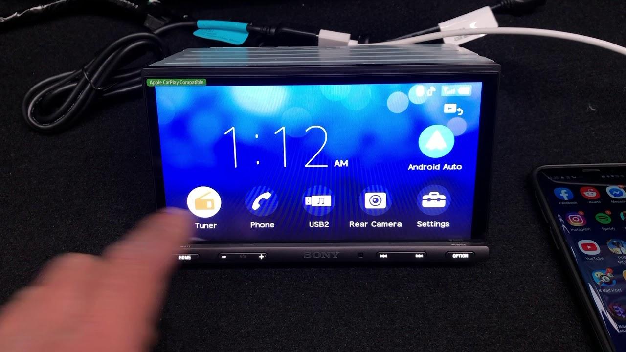 How Android Auto Works On The Sony XAV-AX5000