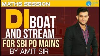 D.I. Boat and Stream for S.B.I P.O. | Maths | Amit Sir