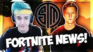 NINJA JOINS TSM? FAZE TFUE EST BANNI! #FORTNEWS (Fortnite Battle Royale)