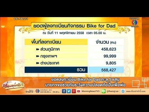เรื่องเล่าเช้านี้ ยอดลงทะเบียน Bike for Dad ทะลุ 5 แสน นายกฯขอช่วยกันระวังความปลอดภัยปั่นเพื่อพ่อ