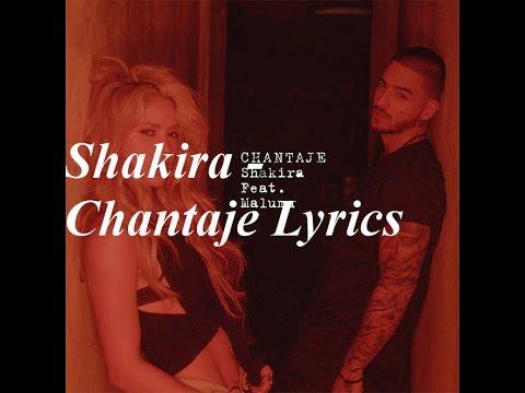 Chantaje - Shakira Lyrics In Spanish and English!!!!