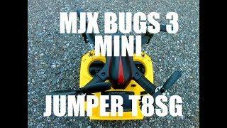 MJX Bugs 3 Mini TEST FLIGHT on Jumper T8SG Plus HIGH WIND Review CRASH