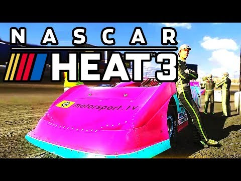 DIRT TRACK DREAMS!!! NASCAR HEAT 3 with BIG RED