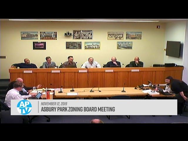 Asbury Park Zoning Board Meeting - November 12, 2019