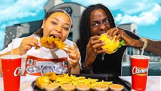 MOST POPULAR FOOD from RAISING CANES! Sauce + Fried Chicken Tenders + Fries MUKBANG | Eating Show