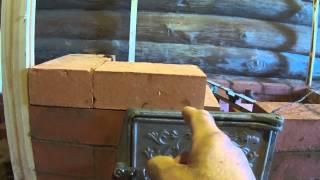 Всё о кирпичной печи ( установка топочной дверцы ) - 3