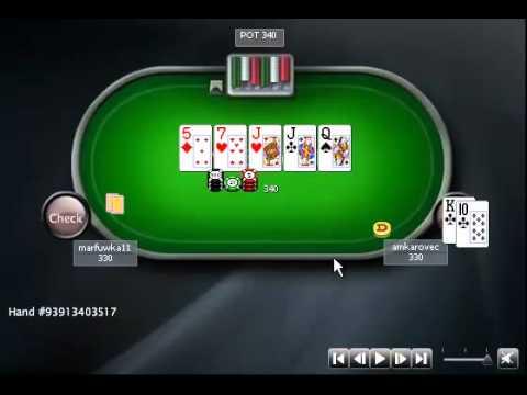 Раздача дня школы PokerStarter: Супер баррель [SNG $30 HU]