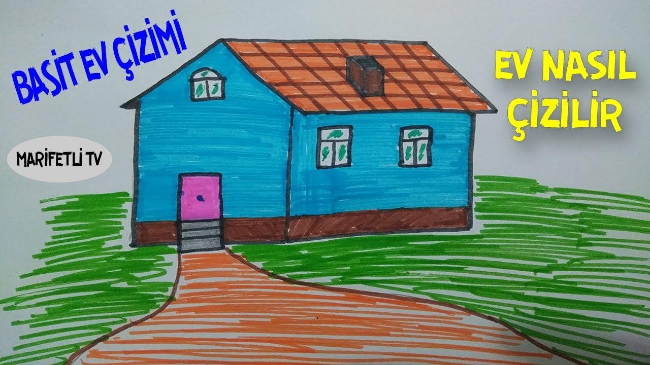 Basit Ev çizimi Kolay Ev Nasıl çizilir Youtube