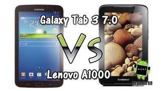 Galaxy Tab 3 7.0 vs Lenovo A1000 (Comparison)