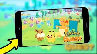 GAMEPLAY   POKEMON QUEST NOVO JOGO DE POKEMON MOBILE - Android/IOS