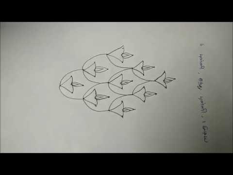 Karthigai Deepam Kolam with 6 to 1 Interlaced dots