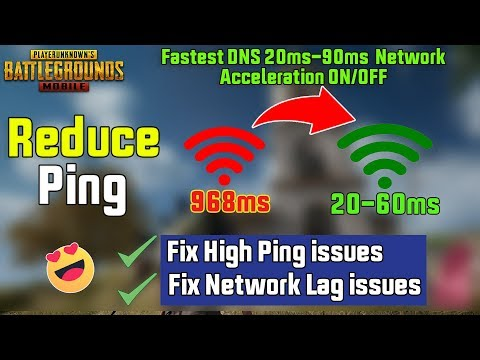 PUBG Mobile Fix High Ping Issues & Network Lag Issues | Network Acceleration ON/OFF