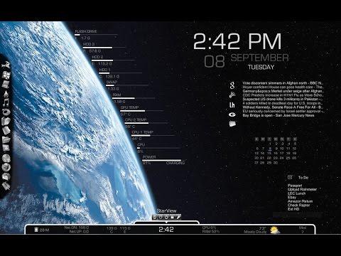 Windows10 Rainmeter, Desktop Customization Tool Tutorial
