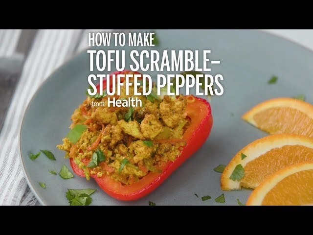 How to Make Tofu Scramble-Stuffed Peppers | Health