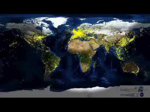 Worldwide Air Travel Animation