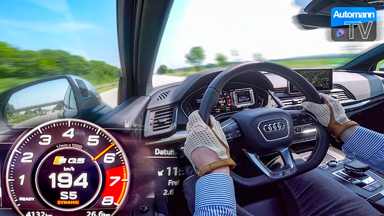 2017 Audi SQ5 (354hp) - 0-220 km/h acceleration (60FPS)