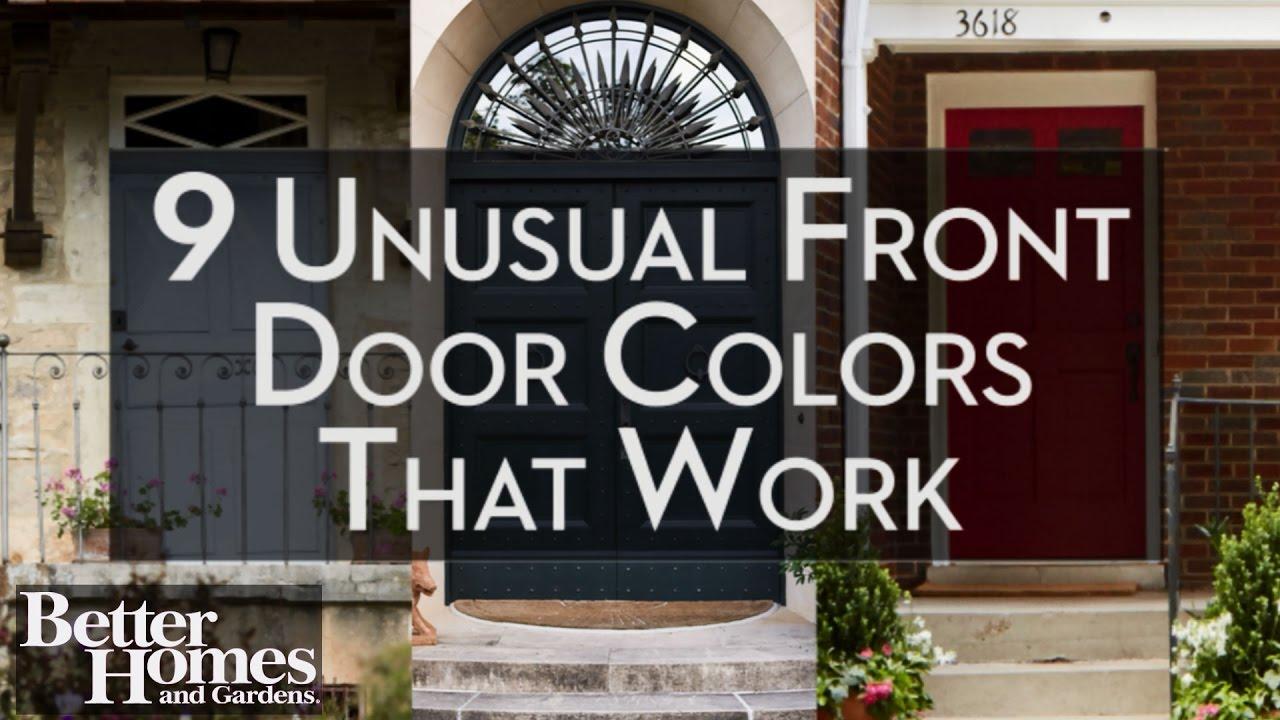 Unusual Front Door Colors That Work