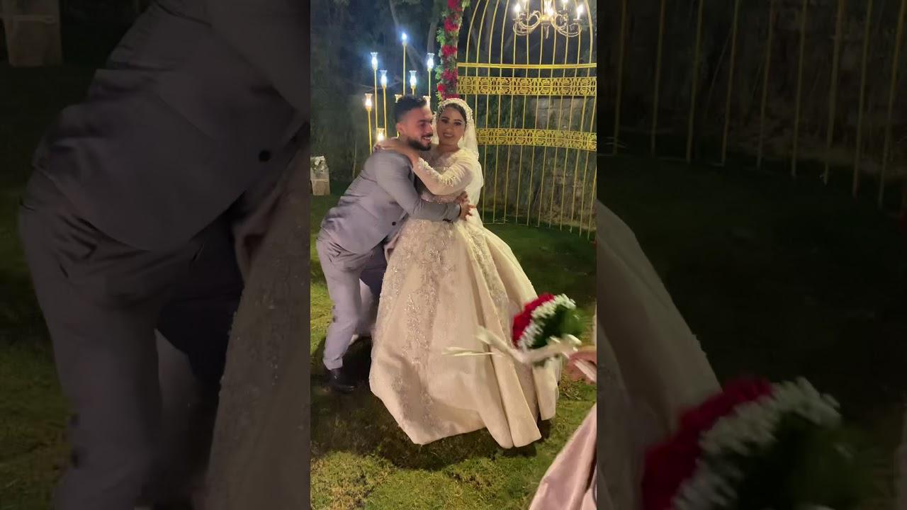 اخو العروسه شالها ولف بيها من فرحته 😂❤️