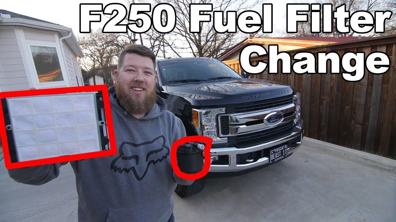 2017-2019 F250 Fuel Filter Change