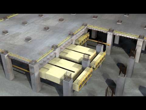 MTR XRL 810A Slab Form Traveller - Animation on operation for bottom-up area