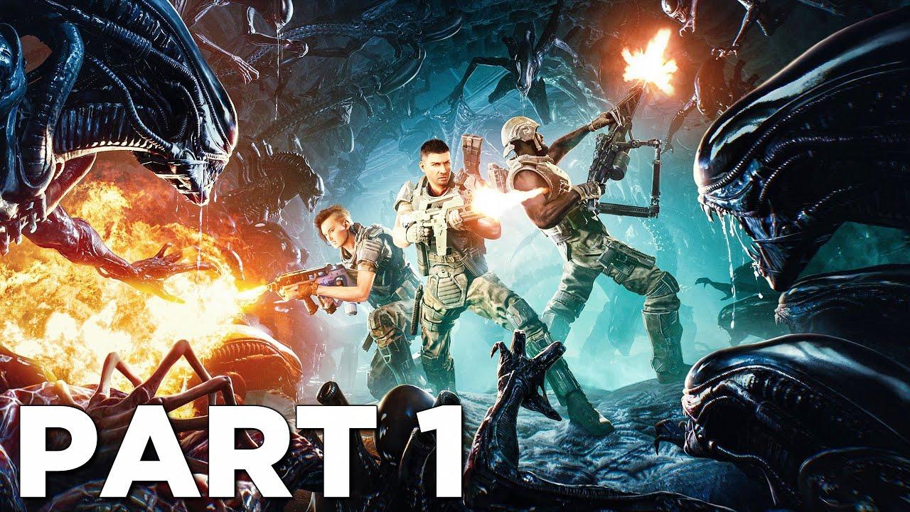 ALIENS FIRETEAM ELITE Walkthrough Gameplay Part 1 - INTRO (Campaign Mission 1)