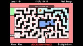 World's Hardest Game 4 - Level 4 Walkthough