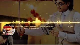Uppenantha Ee Prema Ki Music with superb background Violin play Aarya 2 Songs Allu Arjun,