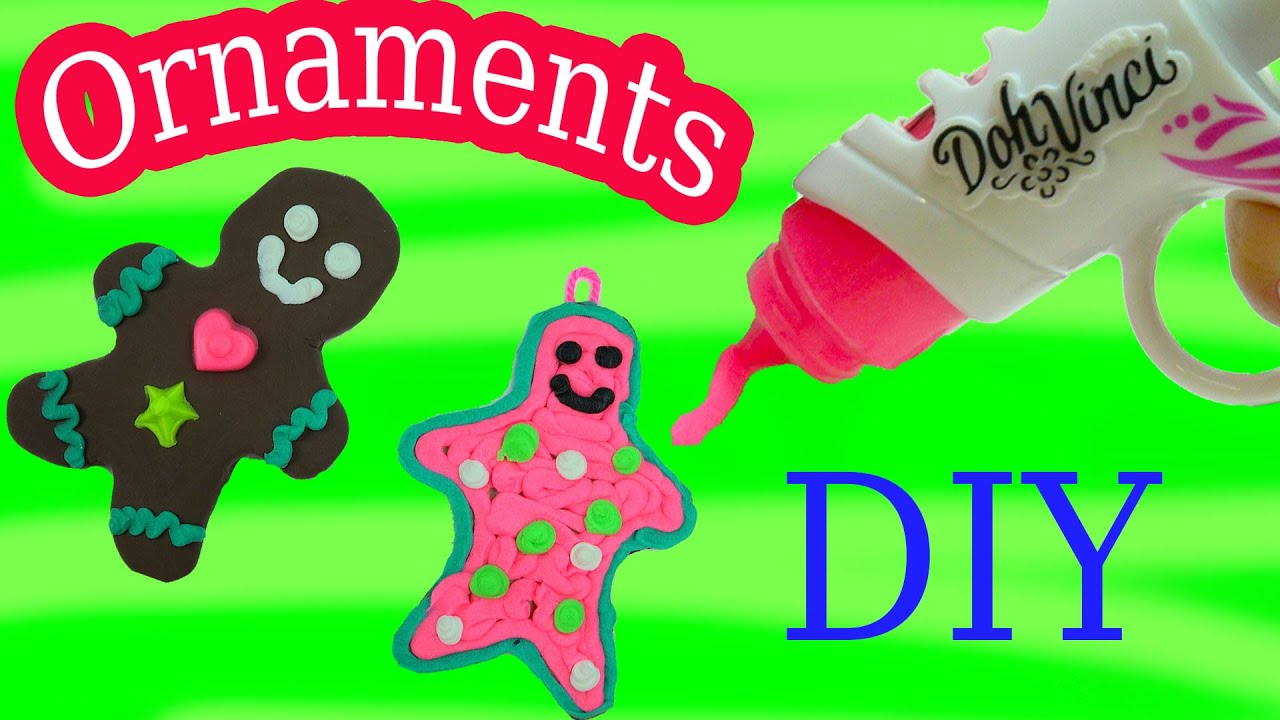 Gingerbread man ornament craft - Playdoh Dohvinci Diy Gingerbread Man Cookies Christmas Holiday Ornaments Maker Toy Play Doh Vinci Youtube