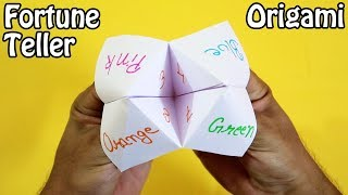 Origami - Fortune Teller | How to make a Paper Fortune Teller (very easy)