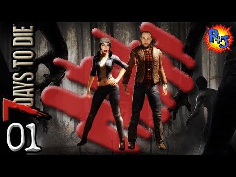 Let's Play 7 Days to Die | PS4 Split-Screen Co-op Gameplay | S3 Part 1 (P+J)