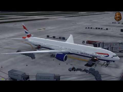 [P3D V3.4 Shanghai (ZSPD) - Heathrow (EGLL) Full Flight | BAW168 PMDG 777-300ER