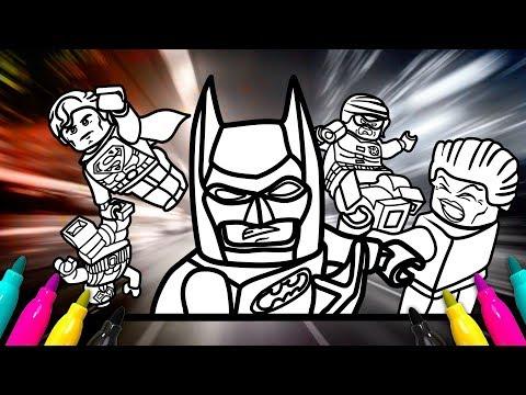 Batman LEGO Movie Coloring page   Superman, Green lantern, Bane, Joker